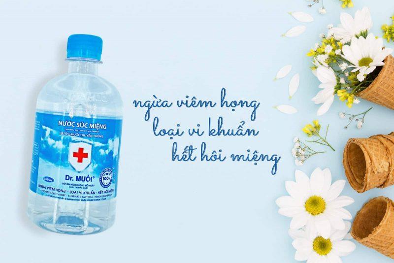 nước súc miệng chữa viêm lợi Dr. Muối