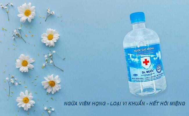 nước súc miệng diệt khuẩn dr muối