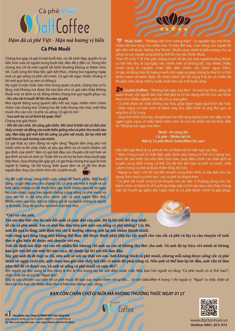 saltcoffee cảm hứng từ câu chuyện cà phê muối