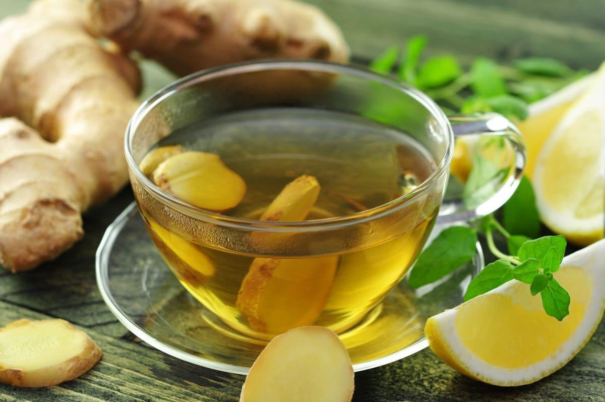 chữa viêm họng với trà gừng