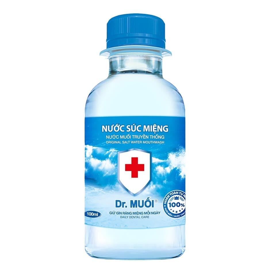dùng nước súc miệng dr muối làm trắng răng