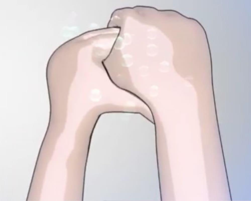 hình ảnh 6 bước rửa tay đúng cách